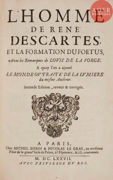 DESCARTES (René). L'Homme de René Descartes,...