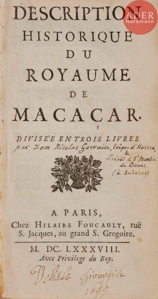 [GERVAISE (Nicolas)]. Description historique...