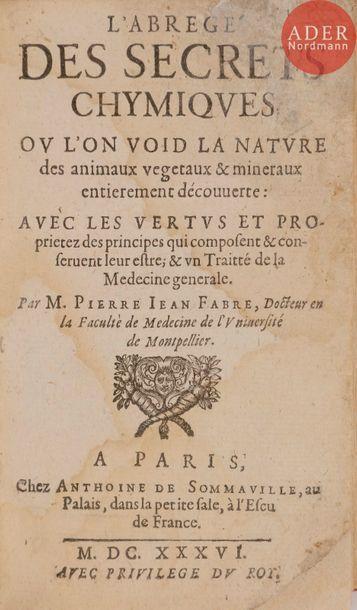 [ALCHIMIE] - FABRE (Pierre Jean). L'Abrégé...