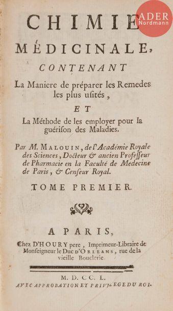 [ALCHIMIE] - MALOUIN (Paul-Jacques). Chimie...