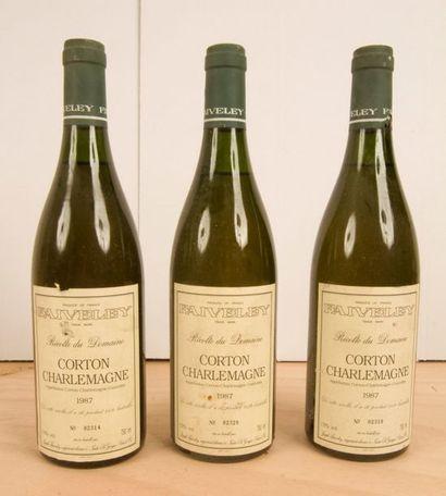 3 B CORTON CHARLEMAGNE (Grand Cru) n° 2314;...