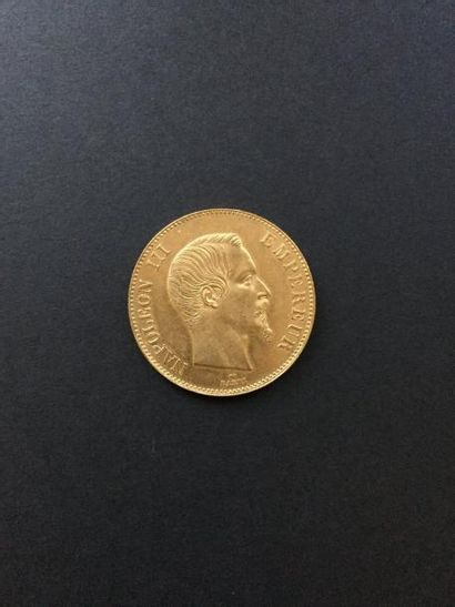 1 pièce de 100 Francs en or. 1857 Frais acheteur...