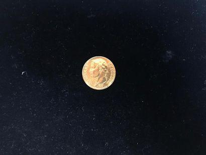 1 pièce de 20 Francs en or. Type Napoléon...
