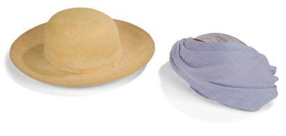 Lot de chapeaux années 50: - un bibi xasquette...