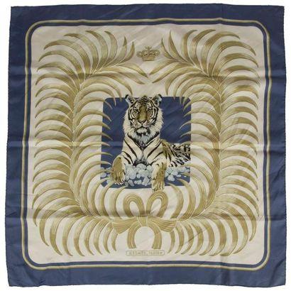 Carré Hermès, modèle Le tigre royal, en twill...