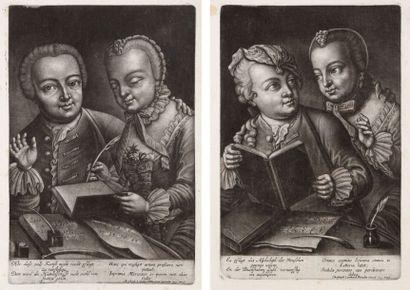 Augsbourg (Christoph Leonhardt Bürglen éditeur) (vers 1750) L'Alphabet ; Le Calcul....
