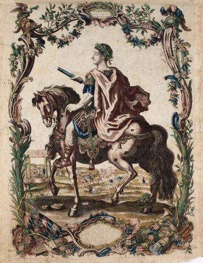 Charpentier éditeur, Paris (vers 1750) Domitien, Douzième Empereur des Romains. Burin....