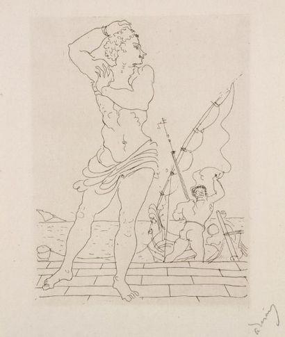André Derain (1880-1954) Léandre. Illustration pour Les Héroïdes d'Ovide, Les Cent...