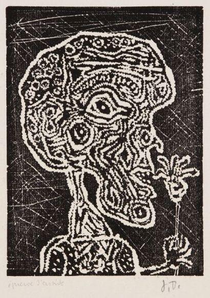 Jean Dubuffet (1901-1985) Humeur de fleur. 1948. Planche V de Vignettes et Lorgnettes....