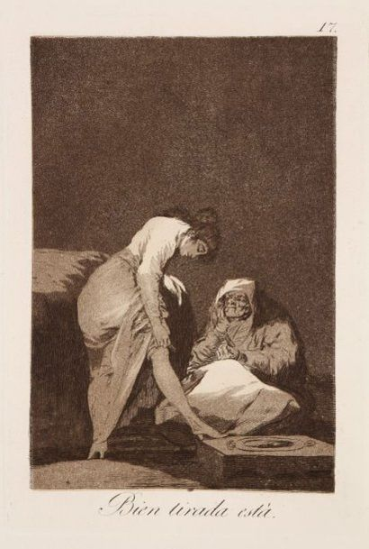 Francisco de Goya y Lucientes (1746-1828) Bien tirada està. (Los Caprichos, pl. 17)....