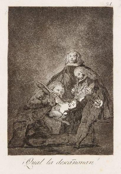 Francisco de Goya y Lucientes (1746-1828) Qual la descañonan ! (Los Caprichos, pl....