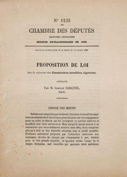 [ALGÉRIE] - SABA TIER Camille, député (Tlemcen 1851-Toulouse 1911)