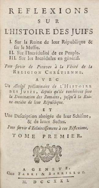 [ANONYME - PLANTIER Jacques, de Genève]