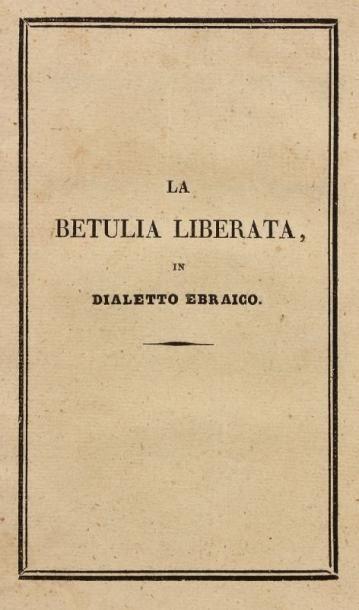 [CORSE] - La Betulia liberata in dialetto...