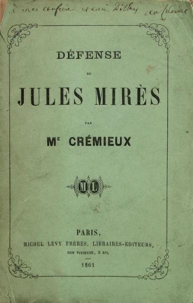 CRÉMIEUX Me (Adolphe)