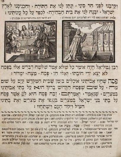 HAGADAH - Bâle, Haas, 1816, un vol. in 4°...