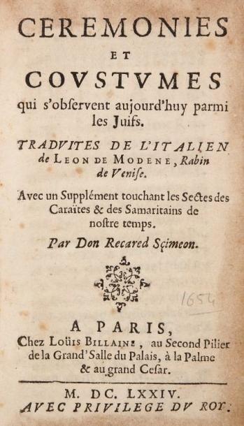 LÉON DE MODÈNE (1571-1648)