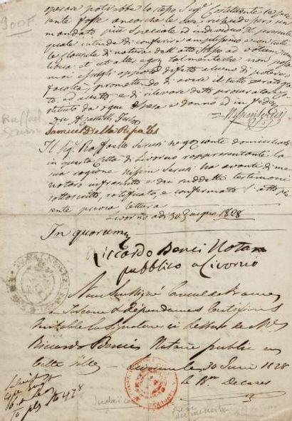 MANUSCRIT - BACRI Joseph - Pièce signée par...