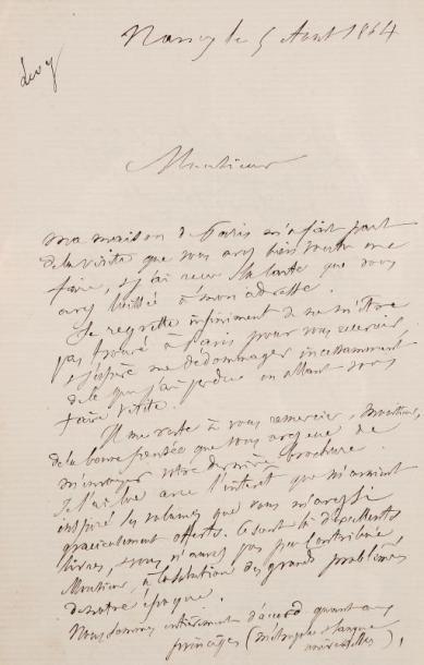 MANUSCRIT - LEVY- BING, de Nancy - Lettre...