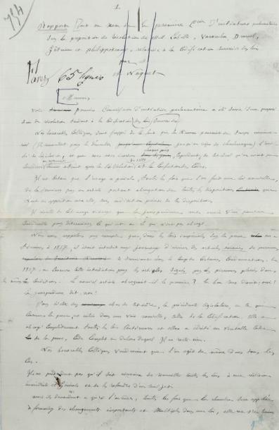 MANUSCRIT - NAQUET Alfred - Pièce autographe...