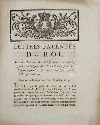 [RÉVOLUTION] - Lettres patentes du roi, sur...