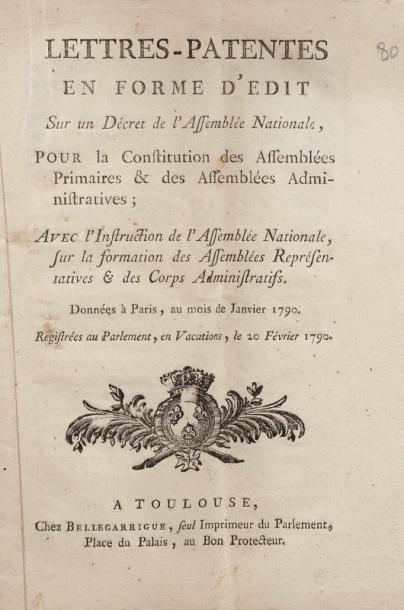 [RÉVOLUTION] - Lettres - patentes en forme...