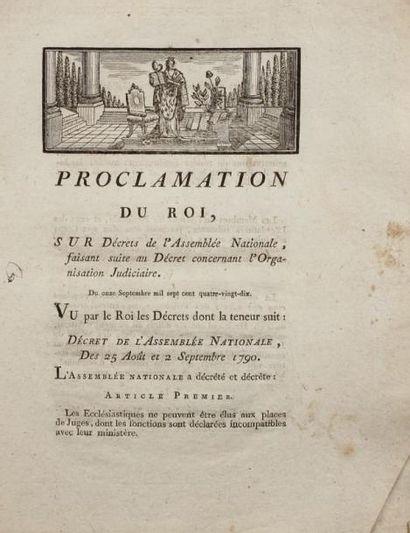 [RÉVOLUTION] - Proclamation du Roi, sur Décrets...