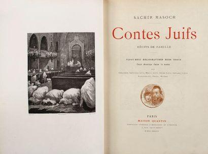 SACHER MASOCH Chevalier de Contes juifs, récits de famille. Vingt huit héliogravures...