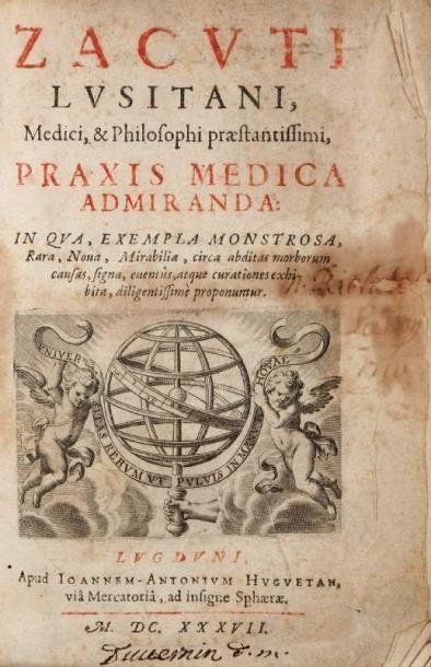 ZACUTUS LUSITANUS (Abraham Zacuto, né à Lisbonne en 1575 sous le nom de Manuel Alvares...