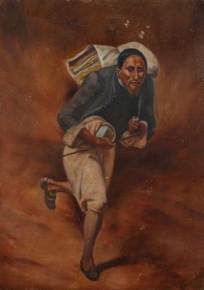 [VERNET Horace, (1789-1863), d'après] Juif de Constantine Huile sur panneau. 33 x...