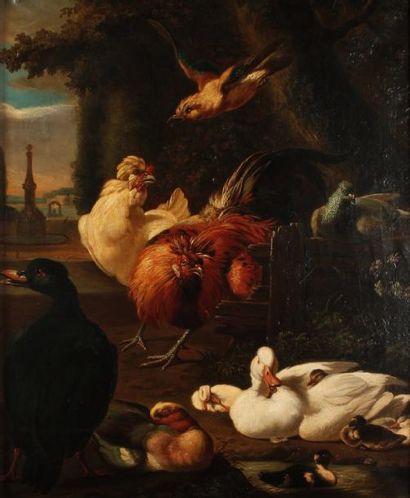 Ecole HOLLANDAISE du XIXe siècle, dans le goût de Melchior de HONDECOETER