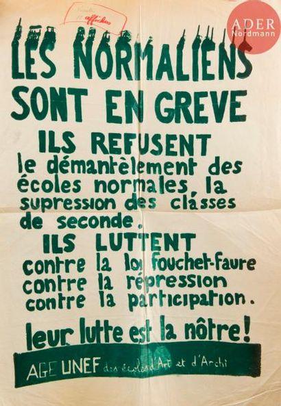 [AFFICHE MAI 68] Les Normaliens sont en grève...