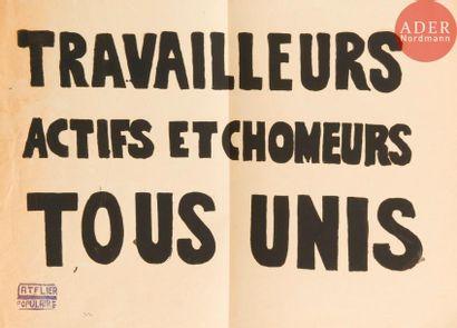 [AFFICHE MAI 68] Ensemble de 3 affiches :...