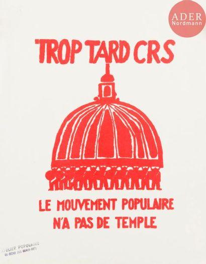 [AFFICHE MAI 68 - CRS] Ensemble de 3 affiches...
