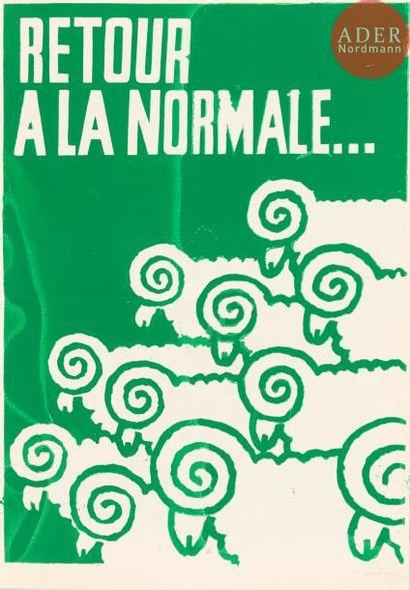 [AFFICHE MAI 68] Retour à la normale… École...