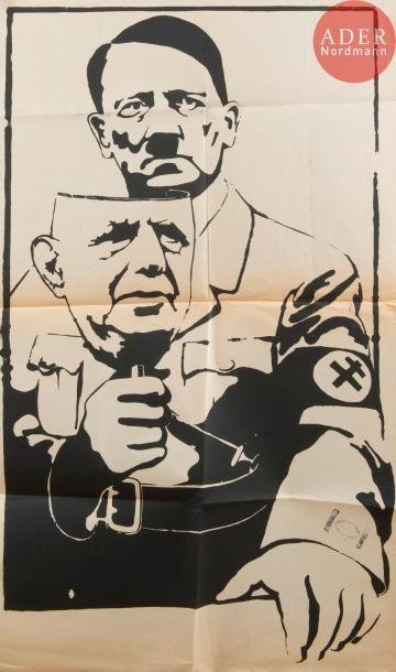 [AFFICHE MAI 68 - DE GAULLE] [Hitler au masque...