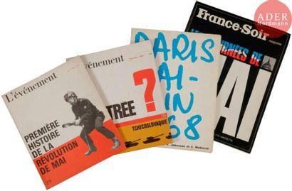 [REVUES MAI 68] Lot de 4 brochures mai 68...