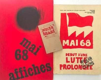 [AFFICHE MAI 68] Ensemble de 3 recueils d'affiches...