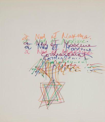 Yaacov AGAM (né en 1928) Écriture cinétique...