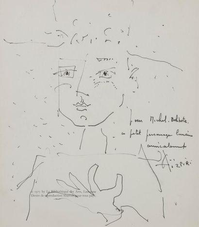 Paul AIZPIRI (1919-2016) Portrait, vers 1975...