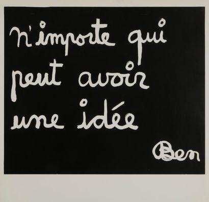Benjamin Vautier dit BEN (né en 1935) N'importe...