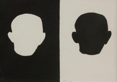 Jean-Charles BLAIS (né en 1956) Autoportrait...