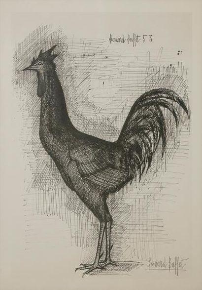Bernard BUFFET (1928-1999) Le Coq, 1953 Lithographie....