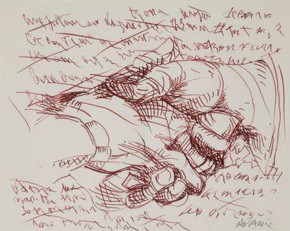 Valerio ADAMI [italien] (né en 1935) Poignée...