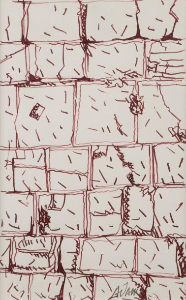 Valerio ADAMI [italien] (né en 1935) Le Mur...