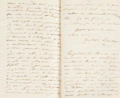 Gustave COURBET (1819-1877) 4 LAS, 1860,...