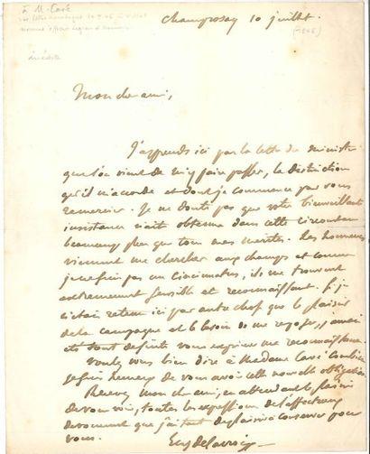 Eugène DELACROIX (1798-1863) LAS, Champrosay...