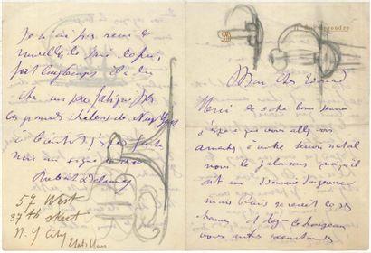 Robert Delaunay (1885-1941) LAS, [Paris 1906],...