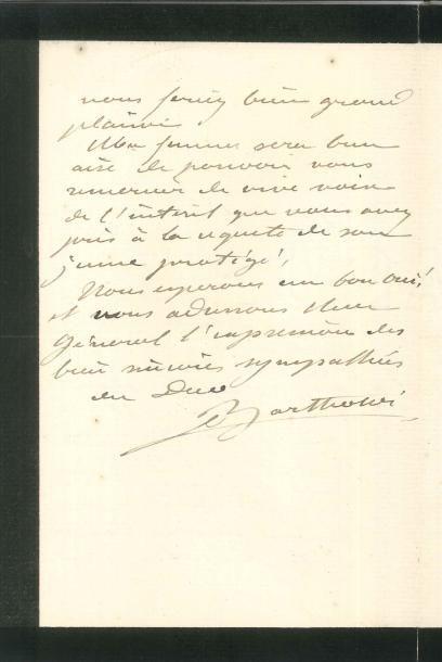 Auguste BARTHOLDI (1834-1904) LAS, 13 août...