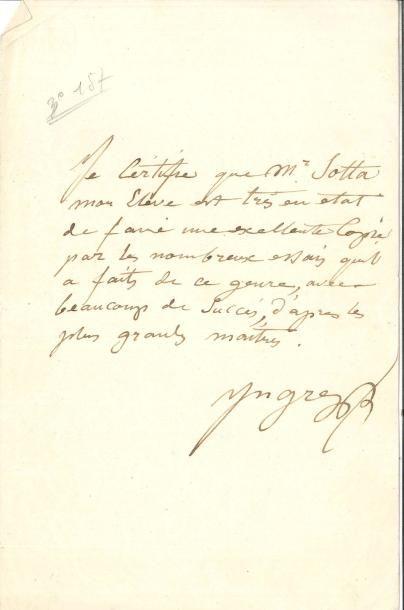 Jean-Dominique INGRES (1780-1867) PAS; ¾...